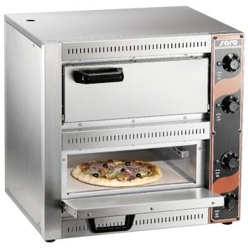 Four à pizza 2x220V 2 chambres 1+1 pizza SARO