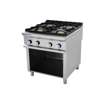 Table de cuisson sur support série 750 - 4 feux Pro Line REPAGAS