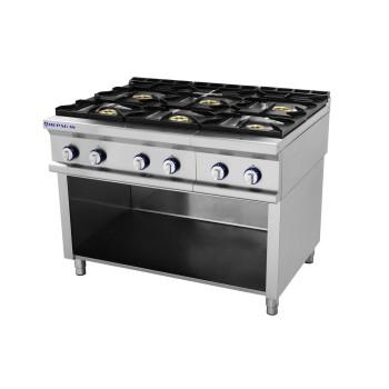 Table de cuisson sur support série 750 - 6 feux Pro Line REPAGAS