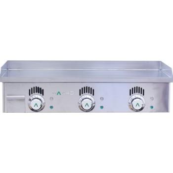 Plancha 220V acier rectifié 80x43x1.2cm MAINHO