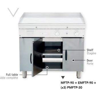 Support fermé pour fry-top et grill MAINHO largeur 120 cm