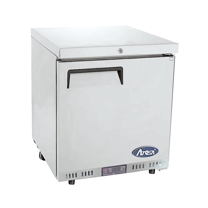 Dessous de comptoir réfrigéré (négatif) inox 145 litres ATOSA
