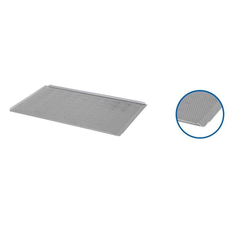Plaque à four alu perforée 4 coins ouverts 600x400