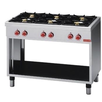 Table de cuisson série 650 sur support - 6 feux GASTRO M