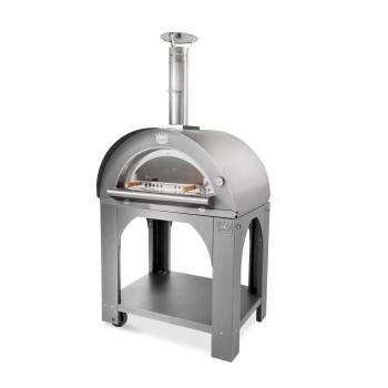 Four à pizza bois tout inox Pulcinella + base CLEMENTI
