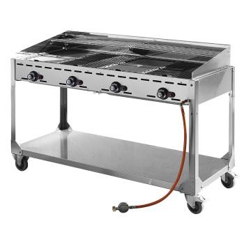 Barbecue gaz GreenFire 4 brûleurs HENDI