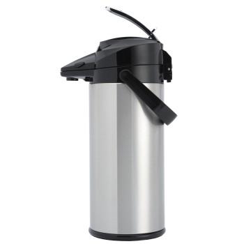 Thermos inox à pompe (ampoule de verre) 2,1 litres ANIMO